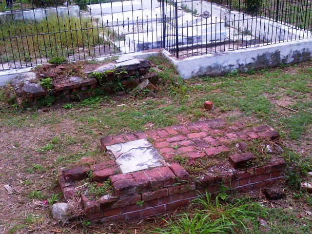 Some of the old graves in the church yard.