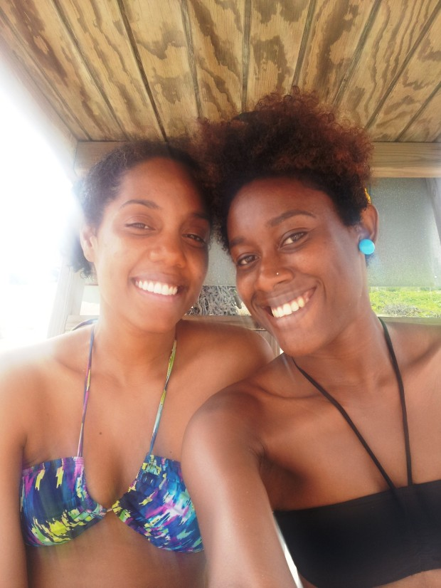 Chenee Daley (left) and I all tanned and stuff... woot!
