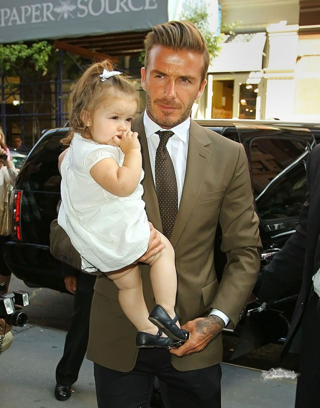 David Beckham with his daughter
