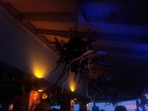 Driftwood lights at the Bizot Bar @ GoldenEye resort