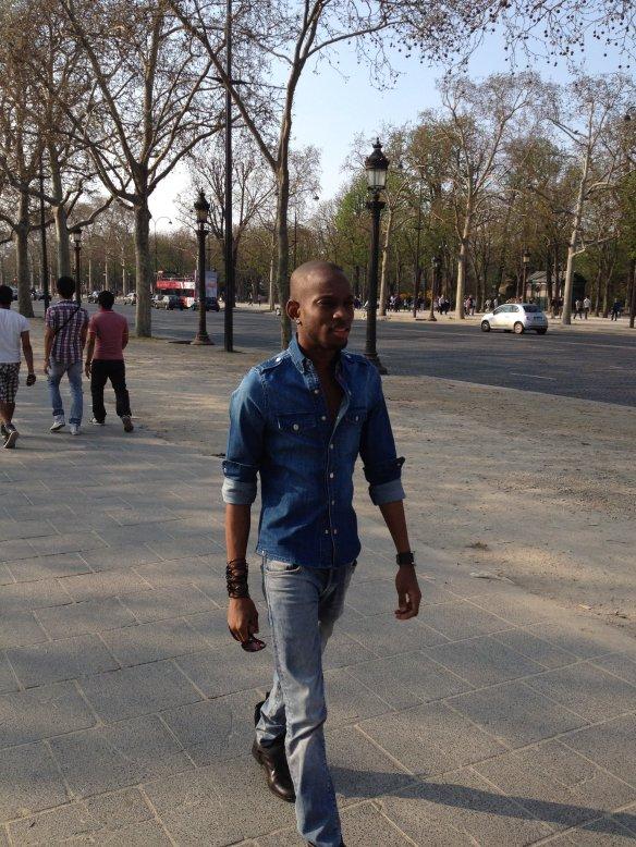 Jamaican-fashion-designer-and-stylist-Mario-Ryo-Stylin-Davis-at-Champs-Elysees-France