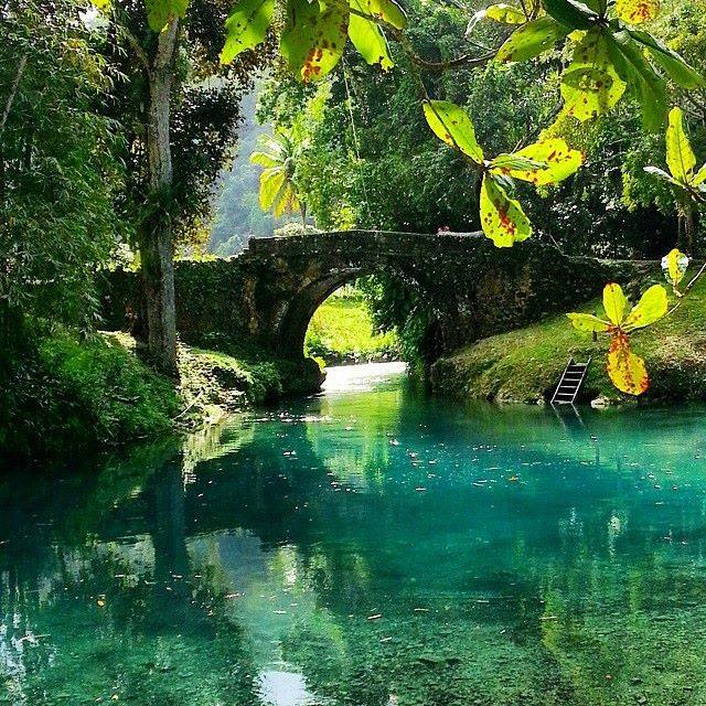 White River Valley by the Old Spanish Bridge -Labyrinth-Jamaica