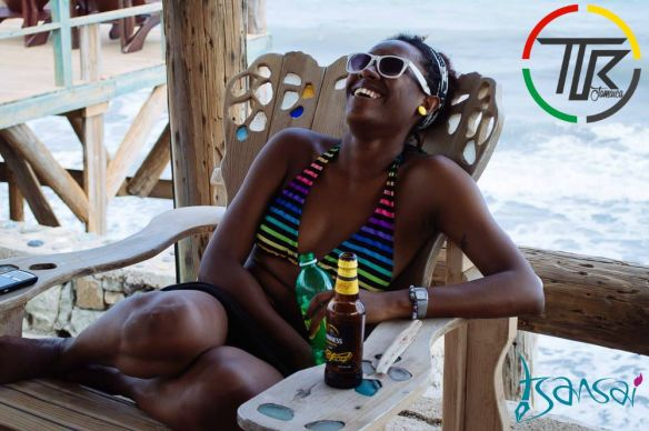 Cheers to brighter days! Wickie Wackie Beach, St Thomas, Jamaica. Photo: Touch The Road