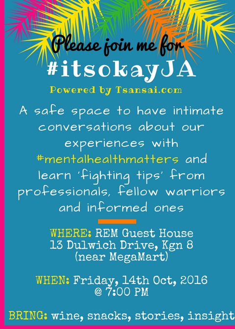 Tami-Tsansai-mental-health-blogger-in-Jamaica-first-event-support-group-itsokayja